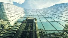 Free Reflection Of Other Buildings On High-rise Glass Building Royalty Free Stock Images - 132859809