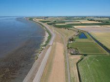 Free Waterway, Aerial Photography, Bird S Eye View, Estuary Stock Image - 132861141