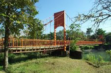 Free Bridge, Suspension Bridge, Truss Bridge, Tree Royalty Free Stock Image - 132861486