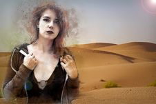 Free Desert, Aeolian Landform, Landscape, Girl Royalty Free Stock Images - 132862059