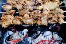 Free Meat, Food, Grilled Food, Skewer Stock Images - 132949244