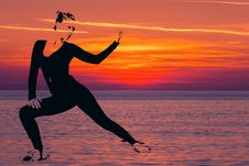 Free Sky, Sunrise, Jumping, Silhouette Royalty Free Stock Images - 132950209