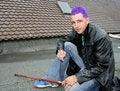 Free Ciggy Pose Stock Image - 1331631