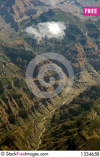 Cloud on canyon Stock Photo