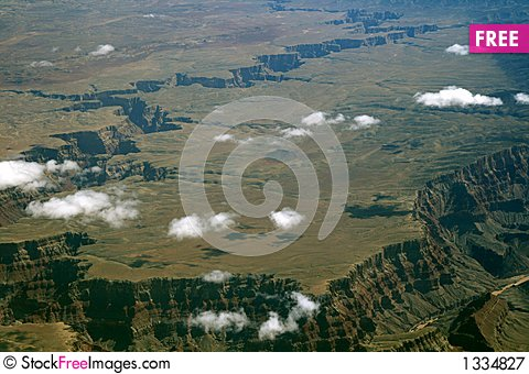 Flat top mountain Stock Photo