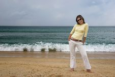 Free Woman At The Beach Royalty Free Stock Photo - 1330855
