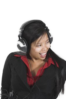 Free Woman Listening To Music Stock Images - 1331254