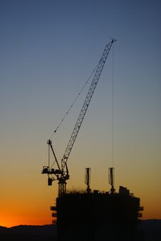 Free Construction Site At Sunrise Stock Photo - 1331270