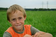 Free Boy In Field Stock Images - 1331274