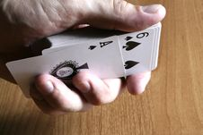 Free Playing Cards Tricks Focuses Royalty Free Stock Photo - 1331405