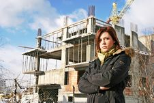 Free Woman At  A Building Stock Images - 1331434