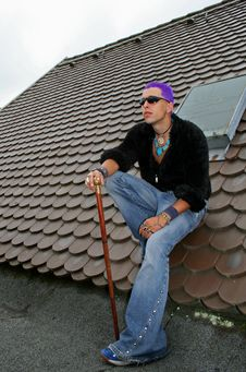 Free Full Punk On Roof Stock Images - 1331494