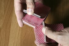 Free Playing Cards Tricks Focuses Stock Photography - 1331552