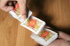 Free Playing Cards Tricks Focuses Stock Images - 1331594