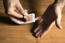 Free Playing Cards Tricks Focuses Royalty Free Stock Photo - 1331625
