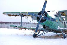 Free Broken Abandoned Aircraft Royalty Free Stock Photo - 1334135