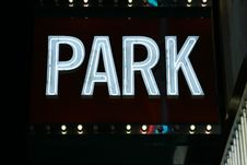 Park Neon Lights Royalty Free Stock Images