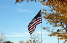 Free Flag In Fall Stock Photos - 1336093
