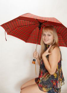 Free Young Woman With Umbrella Stock Photos - 1336463