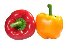 Free Red And Yellow Peppers Royalty Free Stock Photography - 1337567