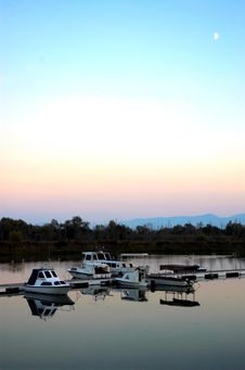 Boats And Lake Mole Stock Image