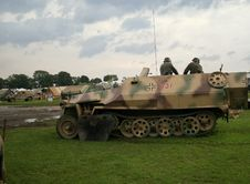 German Soldiers In A Half Track Stock Photos