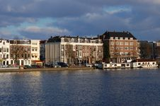 Free Waterway In Amsterdam, Holland Royalty Free Stock Photography - 13305177