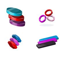Set Of 3d Icons Royalty Free Stock Photo