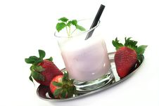 Free Strawberry Shake Stock Photos - 13345553