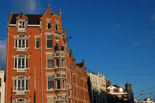 Tower Castle Building In Amsterdam Royalty Free Stock Photography
