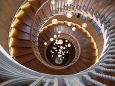 Free Spiral, Stairs, Ceiling, Symmetry Stock Photos - 133463843
