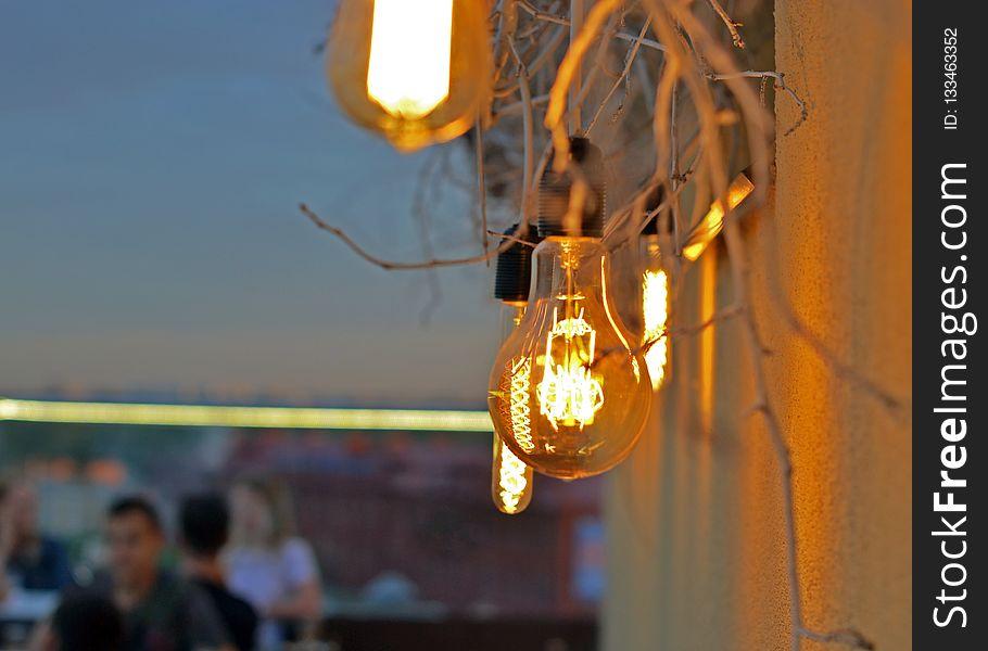 Yellow, Light, Lighting, Light Fixture