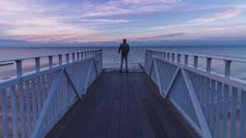 Free Man Standing At The Pier Royalty Free Stock Images - 133488979