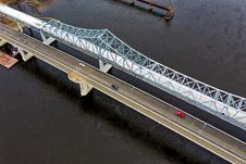 Free Aerial Shot Of Bridge Stock Photography - 133489262