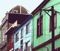 Free Blue And Green Houses, Valparaiso Royalty Free Stock Photography - 13351447
