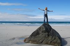 Free Rock On The Beach Stock Photos - 13371573