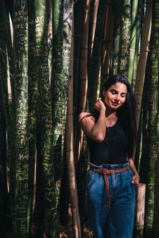 Free Photo Of Woman Standing Near Bamboo Trees Royalty Free Stock Photo - 133729155