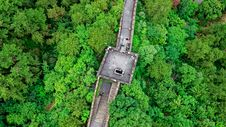 Free Aerial View Photography Of Great Wall Of China Royalty Free Stock Images - 133729559