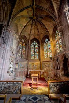 Free Chapel, Stained Glass, Place Of Worship, Altar Stock Image - 133773131
