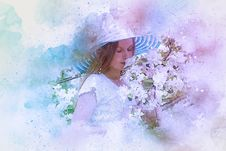 Free Lavender, Lilac, Flower, Watercolor Paint Stock Photography - 133774162