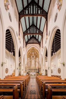 Free Place Of Worship, Arch, Aisle, Church Royalty Free Stock Images - 133774729