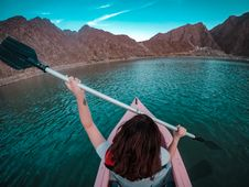 Free Woman Using Paddle Stock Photos - 133792013
