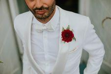 Free Man Wearing White Suit Stock Photography - 133792202