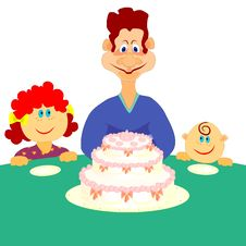 Free Family Cake Royalty Free Stock Images - 13382709