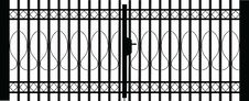 Free Gate Silhouette Royalty Free Stock Image - 13387196