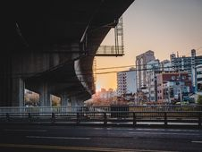Free Concrete Road With Bridge On Top Stock Image - 133893161