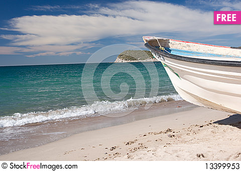 Free Mexican Fishing Boat Stock Photos - 13399953