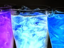 Free Three Lighted Cocktails Inside Drinking Glasses Stock Photo - 133968670