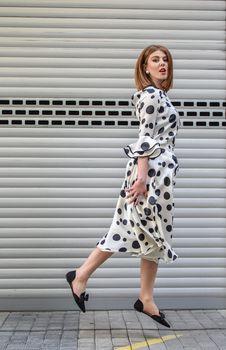 Free Photo Of Woman Wearing Polka Dot Dress Stock Image - 133968741