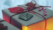 Free Close-Up Photo Of A Gift Box Wrapped With Red String Stock Image - 133968751